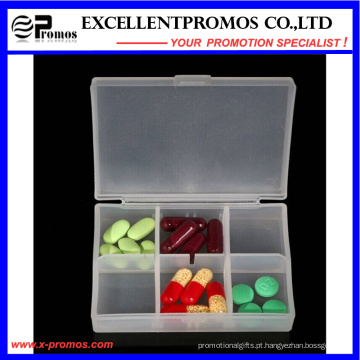 Alta qualidade 6units logotipo personalizado Pillbox (EP-030)