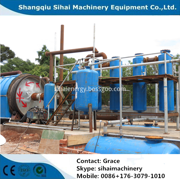 used car tire recycling to oil machine