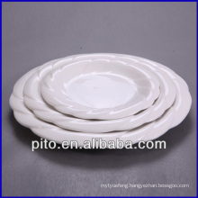 "8"" 10"" 12""wholesale white porcelain plate , ceramics plate"