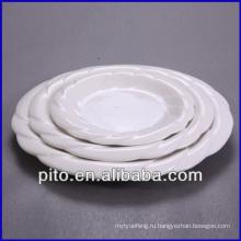 """8 """"10"""" 12 """"оптом белый фарфоровая тарелка, керамическая тарелка"""