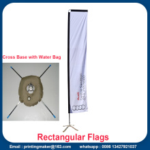 Custom Fabric Rectangular Flaggor Banderoller med Flagpole