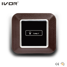 1 Gang Lichtschalter Touch Panel Lederumrissrahmen (AXL-LE-L1)