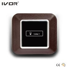 1 Interruptor de encendido de pandillas Marco de contorno de cuero del panel táctil (AXL-LE-L1)