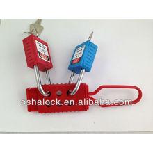 Bloqueio de haste de bloqueio de dielétrico e plástico BD-K41 com cadeado de segurança, para rotulação de bloqueio usando
