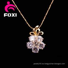 Flor Zircon Stone Silver Pendants Jewelry para niñas
