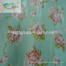 100% algodón impreso tela revestida del PVC/tabla tela cosmética bolsa