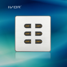 1-6 Gangs Light Switch LED Light Switch Touch Panel Aluminum Alloy Material (ID-ST1000K-CAN)