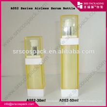 China Wholesale Vazio Cosmetic Containers Square Garrafa 30ml 50ml Airless única bomba de garrafa