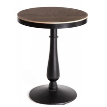 Single Leg Small Round Wooden Restaurant Dining Tables
