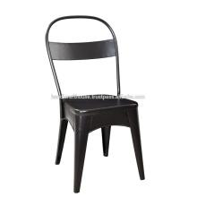 Chaise de bureau en dossier en fer noir