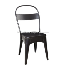 Black iron backrest office chair
