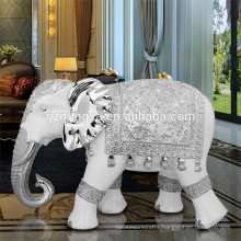 Polyresin home decoration accessories crafts special casting gold color elephant statue