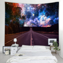 Starry Tapestry Galaxy Tapestry Road to The Night Sky Wall Opknoping 3D Printing Tapestry Psychedelische kunst aan de muur voor woonkamer bed