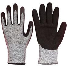 13Gauge Level 5 Cut-resistant / Oil-resistant Cheap Black Nitrile Gloves for Working