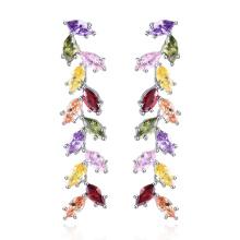conception de feuilles suspendus boucles d'oreilles fabricant de bijoux en laiton