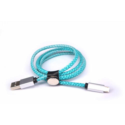 2.4A Mikrofaser Stich Metall-USB-Kabel