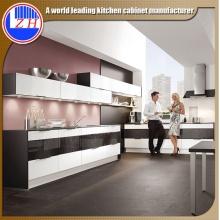 Mobiliario moderno de la cocina de la fibra del rasguño de Glossy para la venta