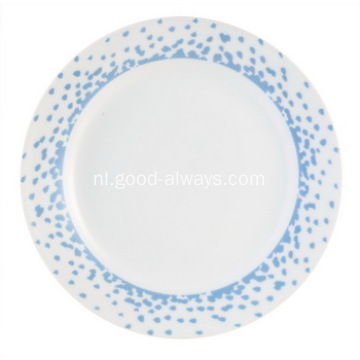 18 delige Coupe porseleinen servies Set, Oceaan Blues