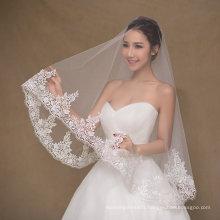 Simple Design Short Ivory Wedding Veil