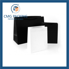 White and Black Clothing Promotion Paper Bag (CMG-PGBB-019)