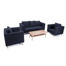 Sala de estar moderna conjunto de sofá de tecido popular de 3 lugares