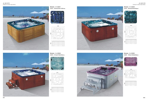 Hot sell CBM H-5501 multifunction Outdoor massage swimpool Luxury spa function bathtub outdoor Whirlpool
