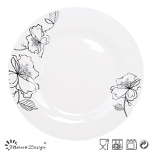 """10.5""""Porcelain Dinner Plate with Decal"""