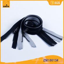Meilleure fermeture éclair en métal de qualité avec Silent réversible pour veste ZM10013