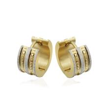 Gold diamond huggie hoop earrings,gold metal circle earring