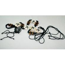 Fashion waxed cord braided belt