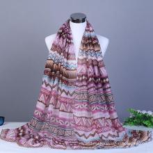 New arrival fashion pattern aztec wholesale cotton malaysian scarfs 2017 women printed hijab shawl