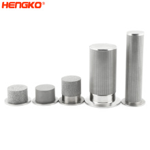 HENGKO high quality custom  0.2-100 sintered porous large hydraulic water filter cartridge for water treatment