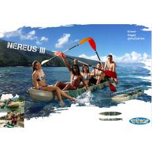 Große Gewichtskapazität Familie Gebrauch Plastik Sitzen Sie oben Fischen-Kajak