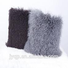 2018 Vente Chaude Réel Fourrure D'agneau Tibétain Mongolian Agneau Fourrure Coussin Couverture