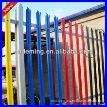 hot sale ISO 9001:2008 multicoloured steel Palisade Fencing