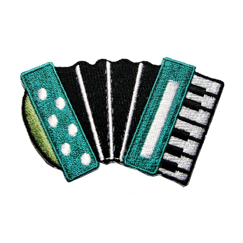Cute Accordion Music Embroidered Patch