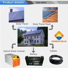 4000W fuera del sistema de la energía solar de la red de la rejilla para el hogar