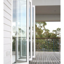 Portas de alumínio dobráveis deslizantes de vidro temperado Preços
