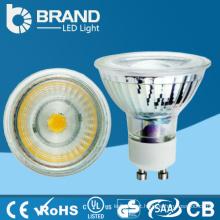 Bom preço!! AC220-240v 5W alumínio novo + plástico GU10 projector do diodo emissor de luz para a venda
