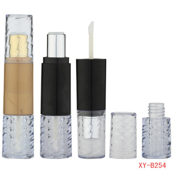 Gold Double Head Lipstick And Lip Gloss Tube
