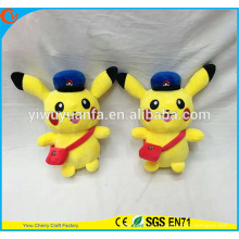 Charming Style Soft Cute Stuffed Pokemon Go Plush Toy Pikachu Conductor for Birthday Christmas Gift