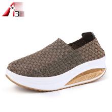 Zapatos elásticos tejidos de verano para mujer