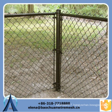 Used chain link fence for sale, chain link plastic garden fence, low price chain link fence