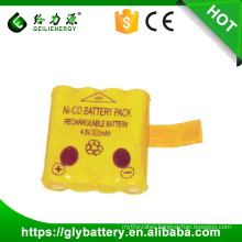 ni-cd aa rechargeable battery pack 4.8v