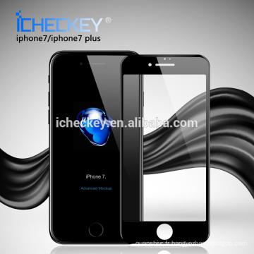 Vente chaude 0.3mm 3D courbé couverture totale de protection d'écran en verre trempé garde mobile pour Iphone7