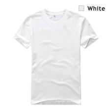 Camiseta del modelo del blanco llano del ocio 2014 de los hombres