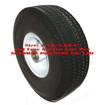 """4.10/3.50-4"""" Flat Free Garden Cart Tire"""