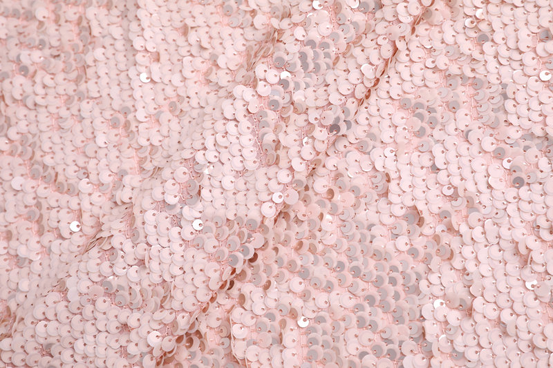 Sequin Embroidery On Chiffon Ground