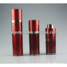 Rojo Botella cosmética acrílica sin aire