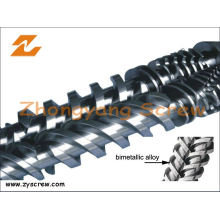 Recycled Plastic Twin Screw and Barrel Bimetallic Parallel Paralleltwin Screw Barrel